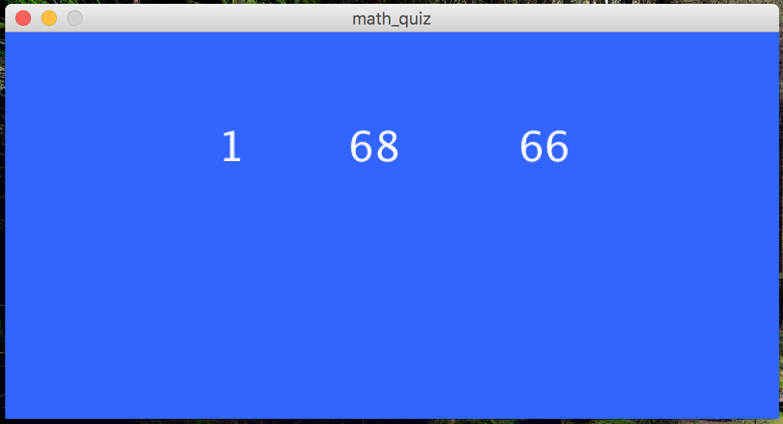 CSc 101 Math Quiz - Benjamin Dicken